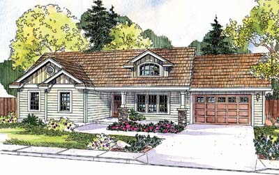 Craftsman Style Home Design 17-683