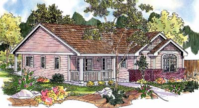 Country Style Floor Plans Plan: 17-684