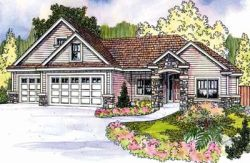Traditional Style Home Design Plan: 17-687