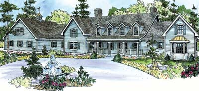 Country Style House Plans Plan: 17-688