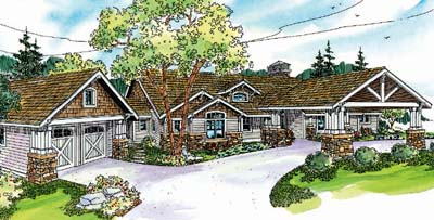 Craftsman Style Home Design 17-691