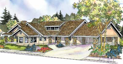 Country Style Home Design Plan: 17-692