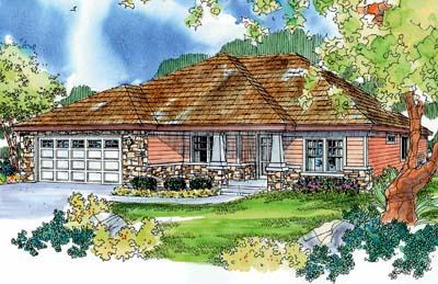 Craftsman Style Home Design Plan: 17-693