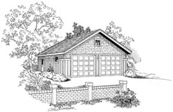 Country Style Home Design Plan: 17-697