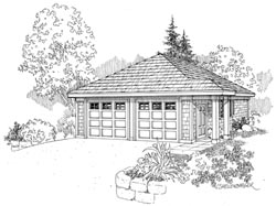 Cottage Style Home Design Plan: 17-700