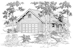 Country Style Home Design Plan: 17-706