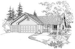 Traditional Style Home Design Plan: 17-712