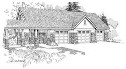 Craftsman Style Home Design Plan: 17-713