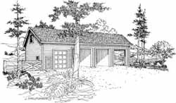 Country Style Floor Plans Plan: 17-744