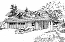Craftsman Style Floor Plans Plan: 17-745