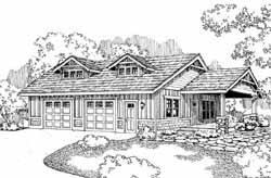 Craftsman Style Home Design Plan: 17-746