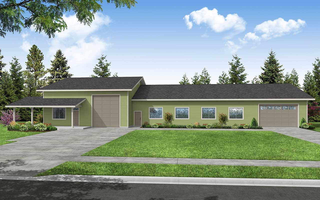 Traditional Style House Plans Plan: 17-750