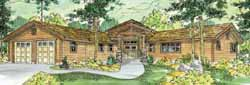 Mountain-or-Rustic Style Home Design Plan: 17-765