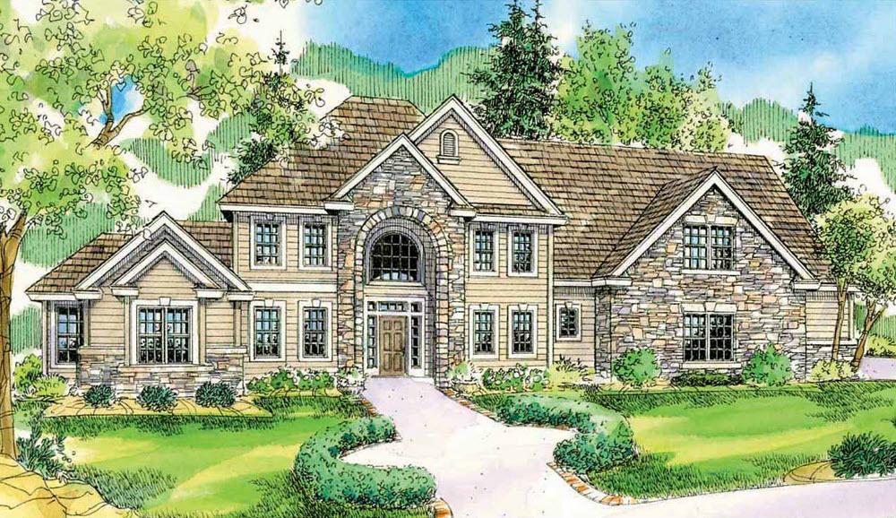 European Style House Plans Plan: 17-770