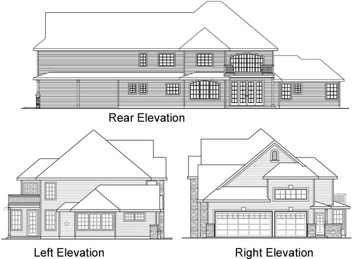 Rear Elevations Plan:17-770