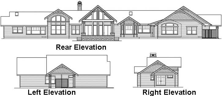 Rear Elevation Plan: 17-812