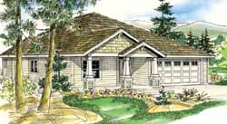 Craftsman Style Home Design Plan: 17-815