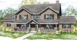 Country Style House Plans Plan: 17-834