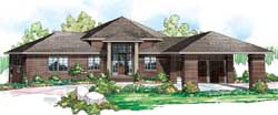 Contemporary Style Home Design Plan: 17-853