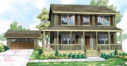 Country Style House Plans Plan: 17-857