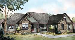Country Style Floor Plans Plan: 17-891