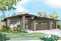 Prairie Style Floor Plans Plan: 17-912