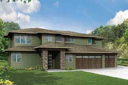 Contemporary Style House Plans Plan: 17-913
