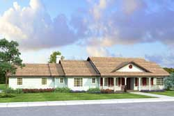 Ranch Style Home Design Plan: 17-933