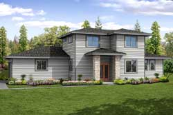 Contemporary Style House Plans Plan: 17-945