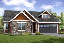 Craftsman Style Home Design Plan: 17-952