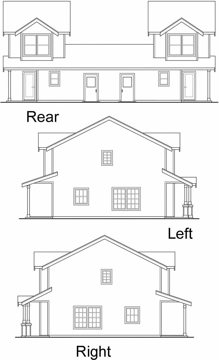 Rear Elevation Plan: 17-958