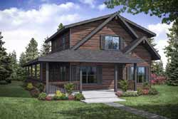 Mountain-or-Rustic Style Home Design Plan: 17-995