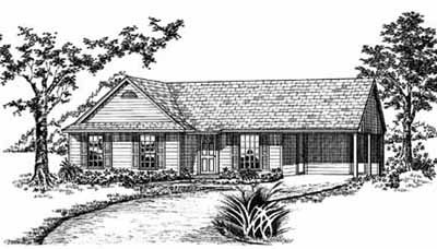 Traditional Style House Plans Plan: 18-104
