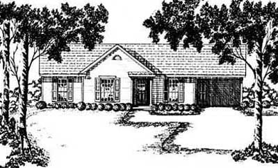 Traditional Style Home Design Plan: 18-107