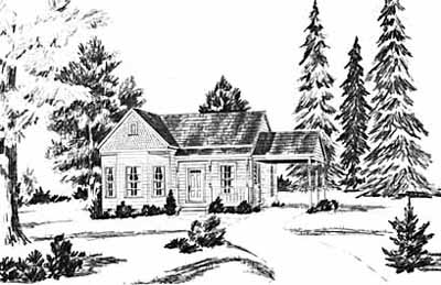 Traditional Style Home Design Plan: 18-115