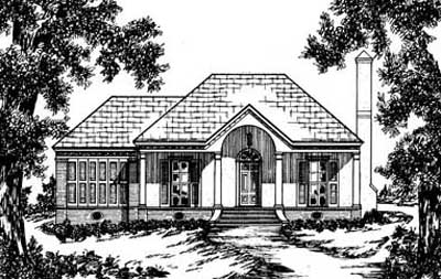 Southern Style Floor Plans Plan: 18-117