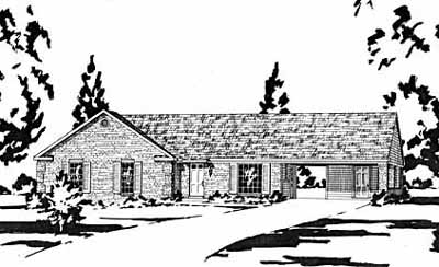 Ranch Style House Plans Plan: 18-125