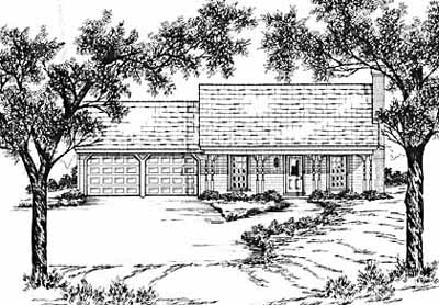 Southern Style Home Design Plan: 18-126