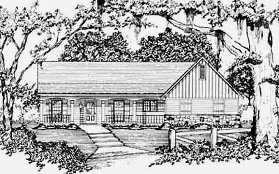 Ranch Style Floor Plans Plan: 18-129