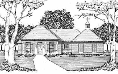 Southern Style Home Design Plan: 18-130