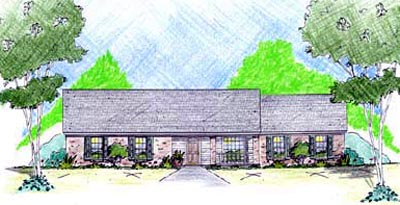 Ranch Style Home Design Plan: 18-131