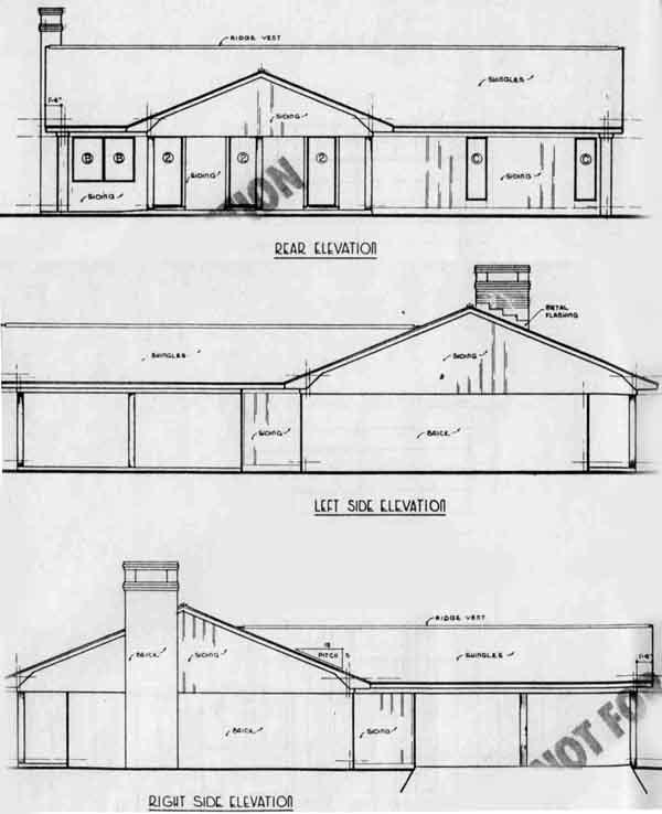 Rear Elevation Plan: 18-133
