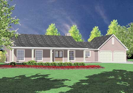 Southern Style Home Design Plan: 18-136
