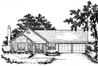 Ranch Style Floor Plans Plan: 18-145