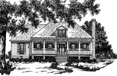 Southern Style Home Design Plan: 18-146