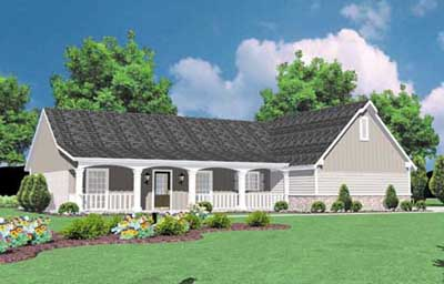 Country Style Floor Plans Plan: 18-158