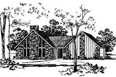 Contemporary Style Floor Plans Plan: 18-159