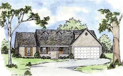 Country Style Floor Plans Plan: 18-165