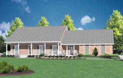 Southern Style House Plans Plan: 18-166