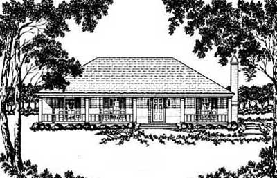 Southern Style Home Design Plan: 18-168